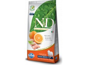 N&D GF DOG Adult Maxi Fish & Orange 12kg