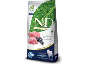 N&D GF DOG Adult Maxi Lamb & Blueberry 12kg