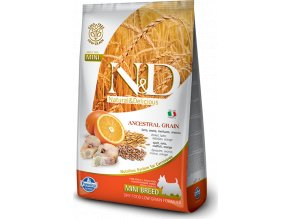 N&D LG DOG Adult Mini Codfish & Orange 2,5kg