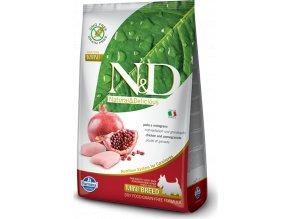 N&D GF DOG Adult Mini Chicken&Pomegranat 2,5kg