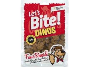 Brit pochoutka Let's Bite Dinos 150g NEW