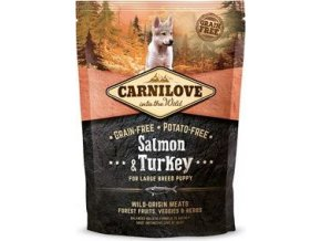 Carnilove Dog Salmon & Turkey for LB Puppies 1,5kg