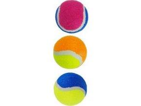 Hračka pes Míč tenisový barevný 6cm TR