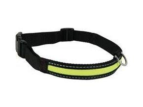 Obojek pes LED nylon nabíjecí nastavitelný L  Zolux