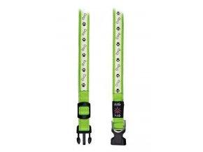 Obojek USB svítící 40-50cm/25mm M-L zelený TR