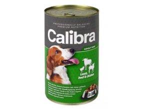 Calibra Dog  konz. jehněčí+hovězí+kuřecí v želé 1240g