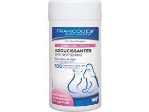 Francodex Ubrousky zvláčňující srst pes, kočka 100ks