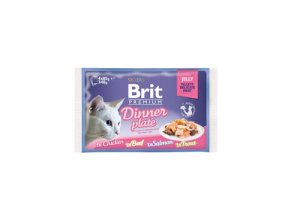 Brit Premium Cat D Fillets in Jelly Dinner Plate 340g