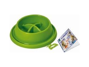 Miska plast proti hltání Zelená malá ARGI