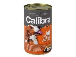 Calibra Dog  konz. krůtí+kuřecí+těstoviny v želé 1240g