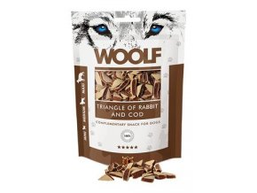 WOOLF pochoutka Rabbit and Cod Triangle 100g