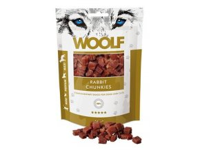 WOOLF pochoutka rabbit chunkies 100g