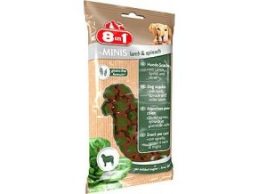 Pochoutka 8in1 Minis lamb & spinach 100g