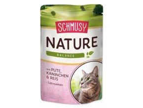 Schmusy Cat Nature Menu kapsa krůta+králík 100g