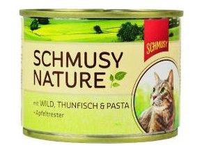 Schmusy Cat Nature Menu konzerva zvěřina+tuňák 190g