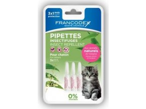 Francodex Pipeta repelentní kotě 3x0,6ml