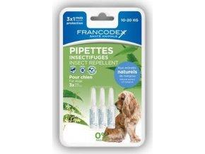 Francodex Pipeta repelentní střední pes 3x2ml