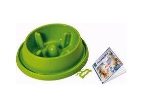 Miska plast proti hltání Zelená střední ARGI