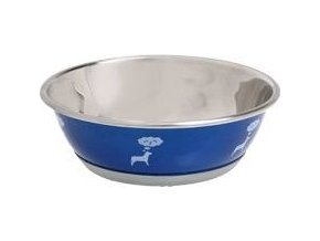 Miska nerez Dog SELECTA motiv 950ml 16cm KAR modrá