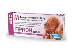 Fipron 134mg Spot-On Dog M sol 1x1,34ml