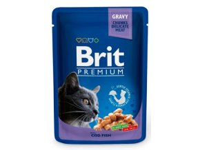 Brit Premium Cat kapsa with Cod Fish 100g