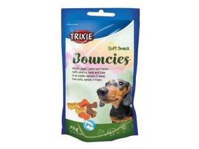 Trixie BOUNCIES mini kostičky kuř/jehně/dršť 75g TR
