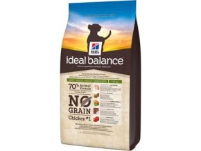 Hill's Canine Ideal B. Adult NO GRAIN kuře bram 12kg