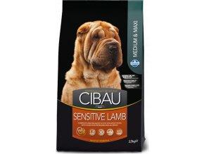 CIBAU Adult Sensitive Lamb&Rice 12kg+2kg ZDARMA