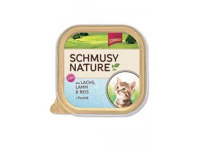 Schmusy Cat Nature Menu vanič Junior losos+jehně 100g