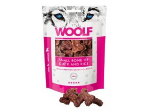 WOOLF pochoutka small bone of duck and rice 100g