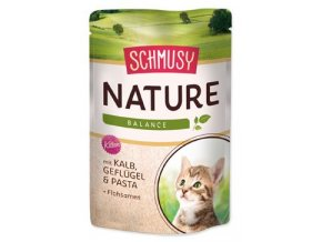 Schmusy Cat Nature Menu kapsa Junior telec+drůbež 100g