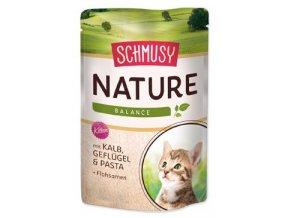 Schmusy Cat Nature Menu kapsa Junior telec+drůbež 100g