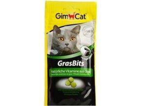 Gimcat kočka Gras Bits Tablety s kočičí trávou 40g