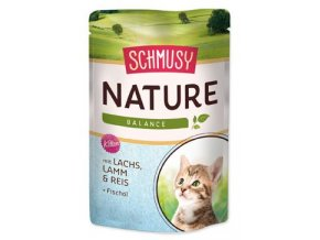 Schmusy Cat Nature Menu kapsa Junior losos+jehně 100g