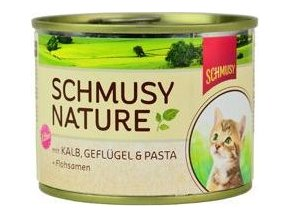 Schmusy Cat Nature Menu konz. Junior telec+drůbež 190g