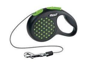Vodítko FLEXI Design XS lanko 3m zelená