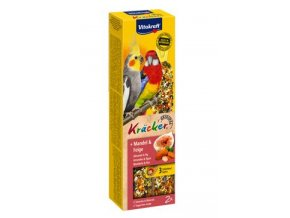 Vitakraft Bird Kräcker stř. papouš. mandle+fík tyč 2ks