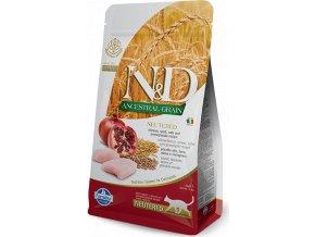 N&D LG CAT Neutered Chicken & Pomegranate 300g