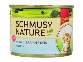 Schmusy Cat Nature Menu konz. Junior losos+jehně 190g