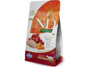 N&D Pumpkin CAT NEUTERED Quail & Pomegranate 300g