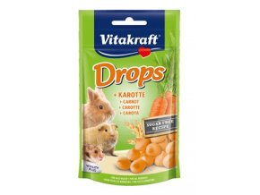 Vitakraft Rodent Rabbit poch. Drops carrots 75g