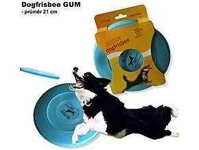 Hračka pes létající talíř Dr.Dog GUM 21cm  MODRÝ