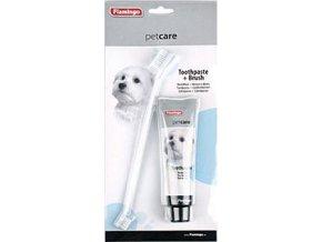 Zubní pasta pro psy PETCARE 85g+zubní kartáček KAR