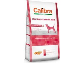 Calibra Dog GF Adult Medium & Small Salmon 80G - VZOREK