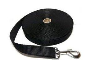 Vodítko DINOFASHION stopovací popruh černé 20m/2,5cm