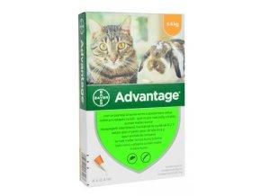 Advantage pro malé kočky a králíky 40mg 4x0,4ml