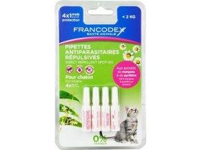 Francodex Pipeta repelentní kotě 4x0,6ml new
