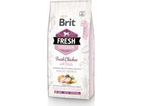Brit Fresh Dog Chicken&Potato Puppy Healthy Growth12kg