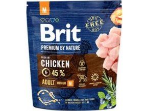 Brit Premium Dog by Nature Adult M 1kg - výprodej