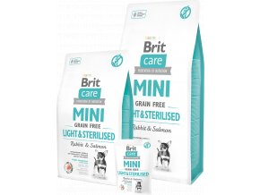 Brit Care Dog Mini Grain Free Light & Sterilised 2kg